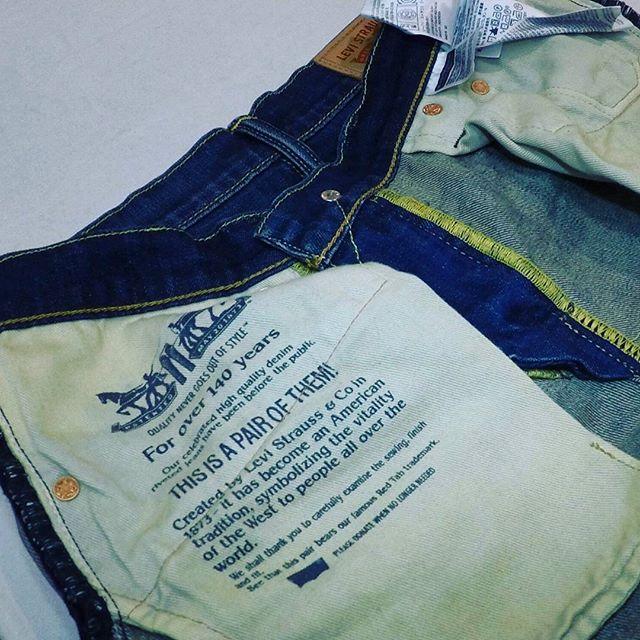 #デニム#スリム 加工膝の後ろ辺りから裾まで細くお直ししました。#洋服のリフォーム #スレッド名古屋 #名古屋 #栄 #ファッション