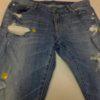 ¥2160~#ジーンズ #リペア ひざの穴を閉じるため横糸を追加して補修してあります。#洋服のリフォーム #スレッド名古屋 #名古屋 #栄 #ファッション #gu